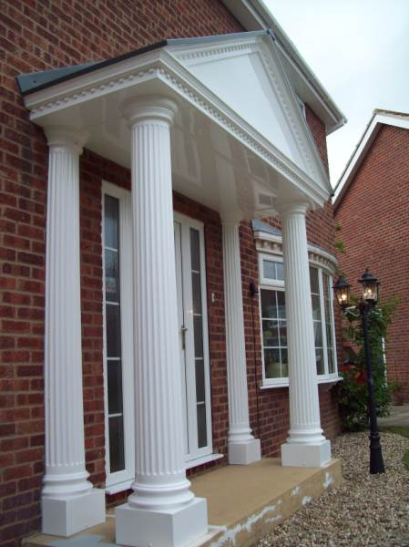 GRP white Columns and Pillars