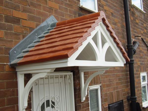 Cheltenham Door Canopy Terracotta roof